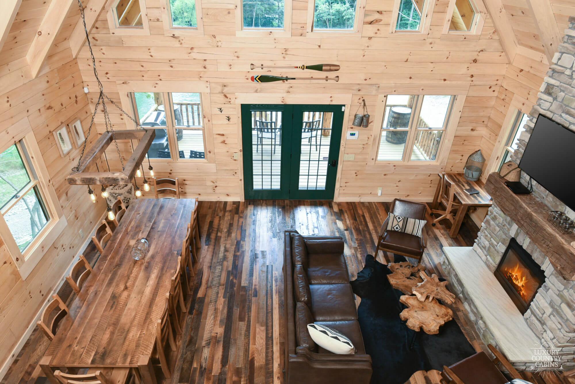 Stone Lake Lodge Living Area From Balcony
