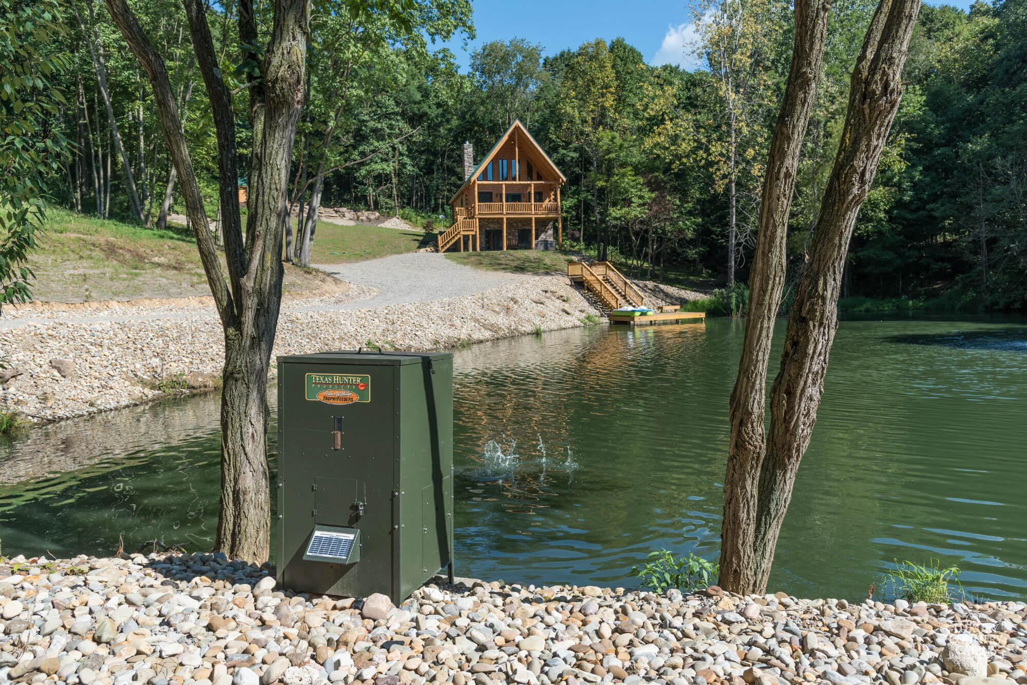 Stone Lake Lodge From Far Across Lake