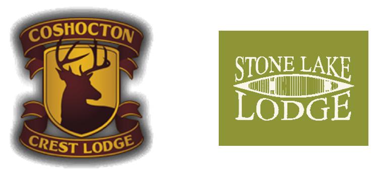 Coshocton Crest Lodge & Stone Lake Lodge Logos